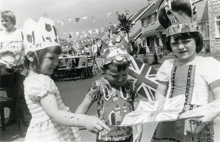 Silver Jubilee celebrations in Winsley, near Bath, June 1977