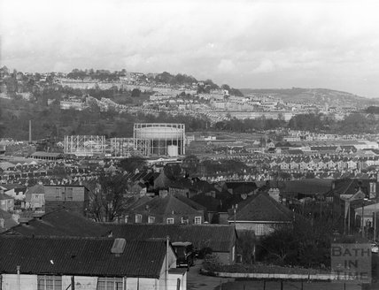 1973 View across Bath from Southdown, 8 March