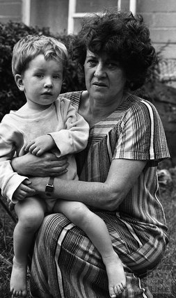 Mrs 'Jocky' Eggleston and son Matthew 3 November 1983