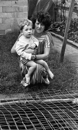 Mrs 'Jocky' Eggleston and son Matthew 3 November 1983