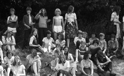 Spectators at the Somervale School Sports Day, 25 June 1976