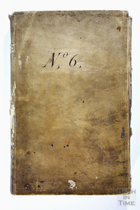 Cover to John Eveleigh's Ledger for building works 1789-92