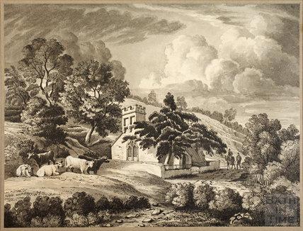 Charlcombe Church, near Bath, c.1850