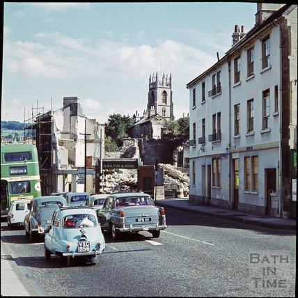 Two way traffic on Claverton Street, c.1971