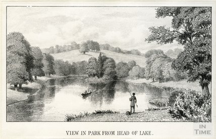 The view in the park from the head of lake, Farleigh House, Farleigh Hungerford, c.1850s?