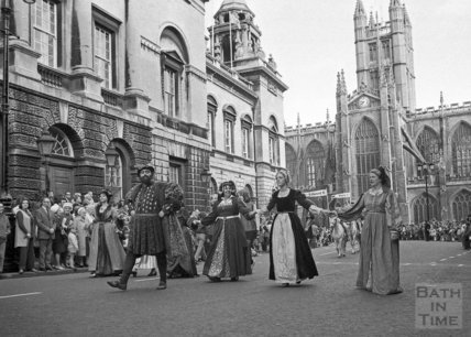 The Monarchy 1000 procession, High Street, Bath, 22 May 1973