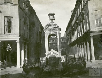The mineral water fountain, Bath Street, c.1920