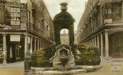 The mineral water fountain, Bath Street, c.1910