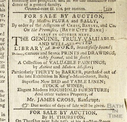 Auction of art collection of Mr Cross, 25 Jul 1793