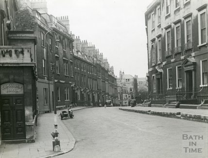 Rivers Street, Bath,  looking west, c.1930s?