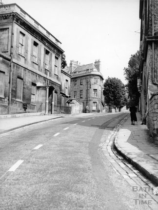 Hope House, Lansdown Road, showing the Royal High Junior School and Lansdown Place East, Bath, c.1950s?
