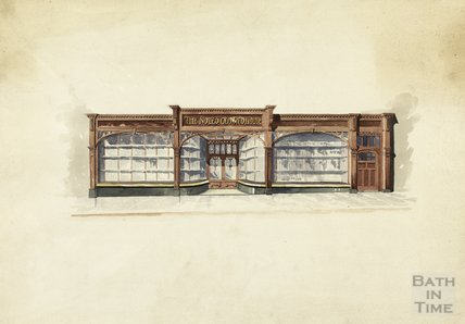 Watercolour of front of Red House Bakery c.1913?