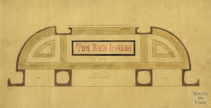 Design for sign for Red House Bakery c.1913?