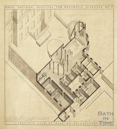 RNHRD - isometric view of bathing establishment - AJ Taylor c.1938