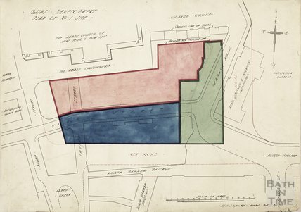 Baths development - Plan of no.1 site - York Street to Terrace Walk - AJ Taylor 1913