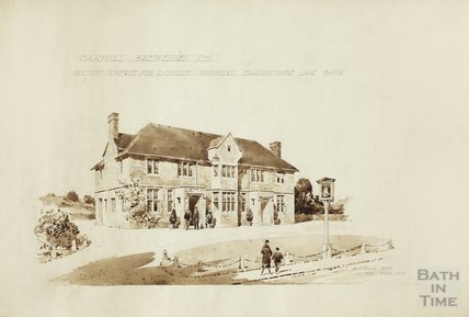Oakhill Breweries Ltd - sketch scheme for licensed premises, Englishcombe Lane, Bath , Englishcombe Inn - AJ Taylor & AC Fare c.1920s?