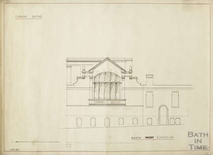 Turkish Baths - south elevation - Charles E Davis November 1877