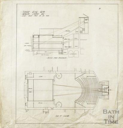 Theatre Royal - proposed cinema box - section & plan - AJ Taylor Sept 1915