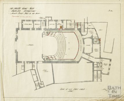 Theatre Royal - proposed alterations - plan at old dress circle level - no.30 - AJ Taylor May 1914