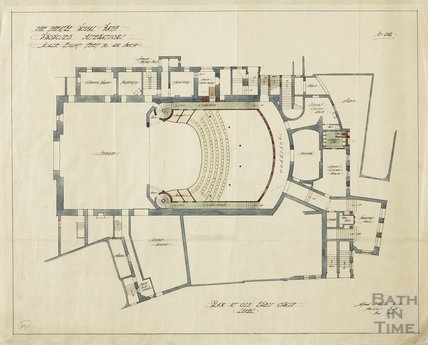 Theatre Royal - proposed alterations - plan at old dress circle level - no.26 - AJ Taylor May 1914