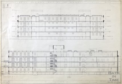 RNHRD , Mineral Water Hospital proposed new buildings - sections - 1034/52 - AJ Taylor and Adams Holden & Pearson, London December 1938