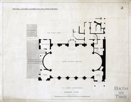 Grand Pump Room - additional buildings, no.2 - ground plan - Charles E Davis c.1880s?