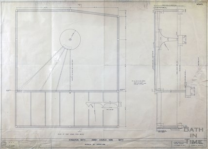Kingston Bath - proposed roof support - plan 1454/5 - Gerrard Taylor & Partners November 1955