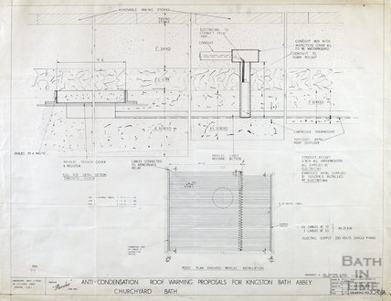 Kingston Bath - proposals for anti-condensation roof warming - section & plan - 3045/1a - C. McKechnie Jarvis & Partners July 1955