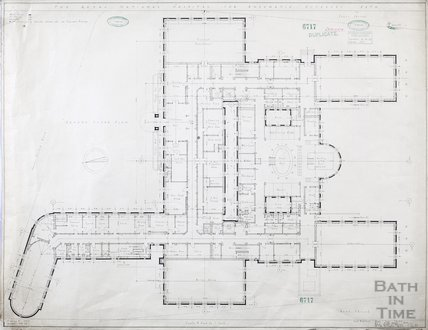 RNHRD , Mineral Water Hospital proposed new buildings - ground floor plan - 1034/40 - AJ Taylor and Adams Holden & Pearson, London December 1938