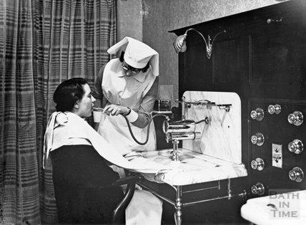 Treatment at the New Private Baths, Bath, c.1914