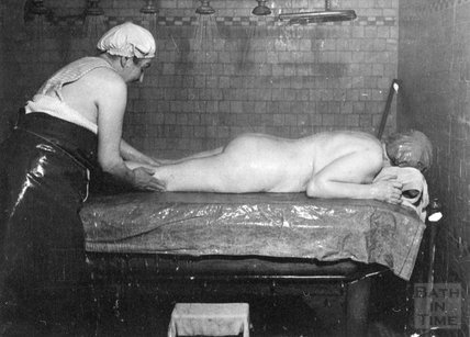 Treatment at the New Private Baths, Bath, c.1914