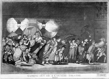 Coming out of a Country Theatre, Bath, 1802
