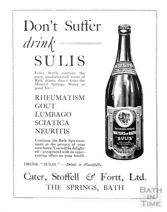 Don't suffer, drink Sulis, Bath, c.1910