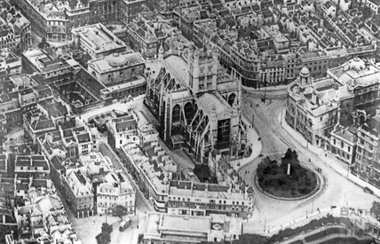 c.1910 Aerial view of central Bath
