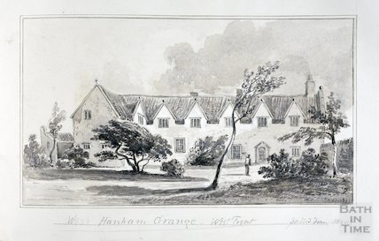 West Hanham Grange, west front, pulled down 1840 - 1