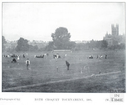 Croquet Tournament on the Recreation Ground, September 1901