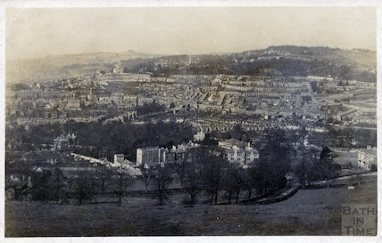 View of Bathwick from below Sham Castle, c.1905