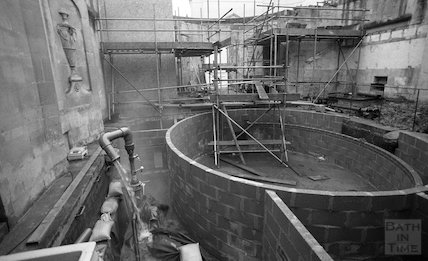 The Cross Bath during the Thermae Bath Spa development, 17 March 2001