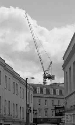 View of the tower crane at the Thermae Bath Spa development, 3 April 2001