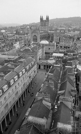 Views from the tower crane of the Thermae Bath Spa construction site, 3 May 2001