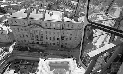 View from the tower crane in Bath Street, Bath 8 May 2001