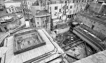 View of the site of Thermae Bath Spa from the roof of the Gainsborough Hotel, 11 May 2001