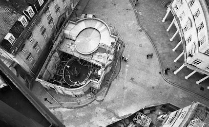 Looking down from the tower crane to the Cross Baths, 18 May 2001