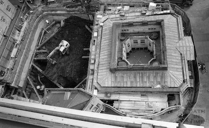 Looking down on the Hot Bath and Thermae Bath Spa site, 18 May 2001