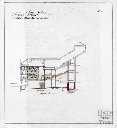 Theatre Royal proposed alterations - section through auditorium - no.36 - AJ Taylor May 1914