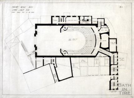 Theatre Royal, proposed alterations - plan of Upper Circle - no.11 - AJ Taylor August 1915