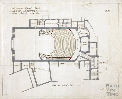 Theatre Royal proposed alterations - plan at Upper Circle level - no.27 - AJ Taylor May 1914
