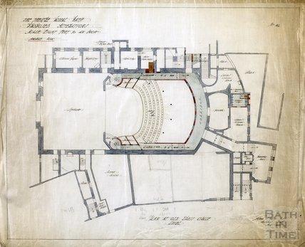 Theatre Royal proposed alterations - plan at old Dress Circle level - no.46 - AJ Taylor May 1914