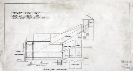 Theatre Royal proposed cinema box - section thro' auditorium - AJ Taylor, July 1917?