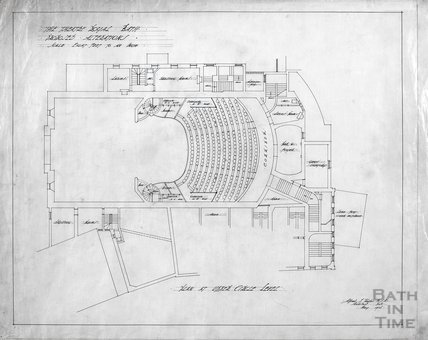 Theatre Royal proposed alterations - plan at Upper Circle level - AJ Taylor May 1914
